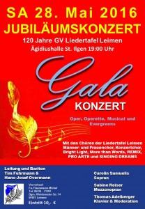 Plakat Jubiläumskonzert 2016