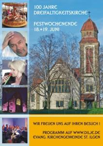 Plakat 100 Jahre Dreifaltigkeitskirche