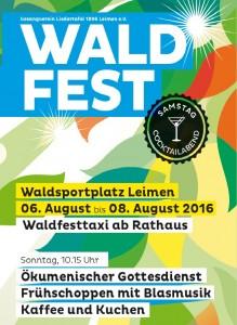 Waldfest Plakat 2016